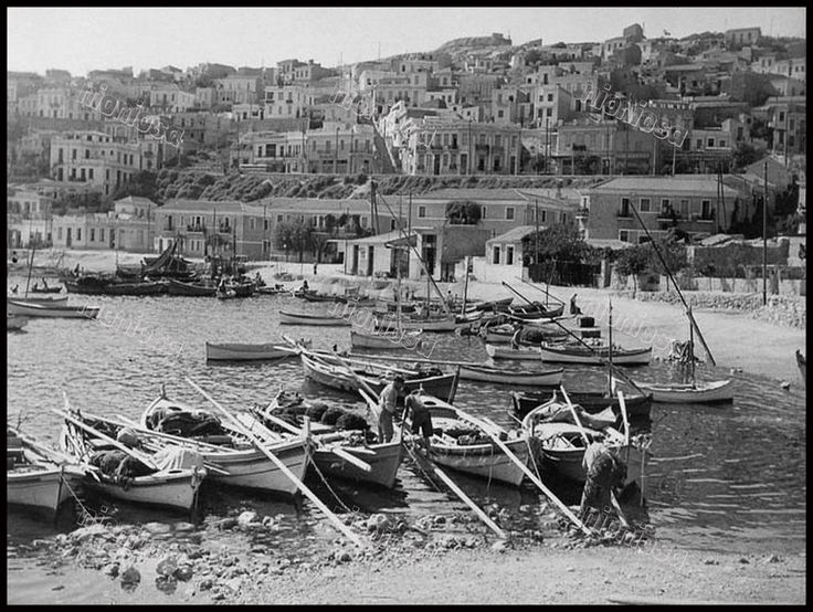 Ψαράδες στο Μικρολίμανο (Τουρκολίμανο), Σεπτέμβριος του 1940.