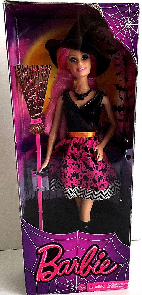 Barbie 2014 Halloween Witch Barbie New in Box  Retired Box has Some Wear #Mattel #Barbie