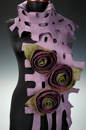 Felt Scarves by Elizabeth Rubidge
