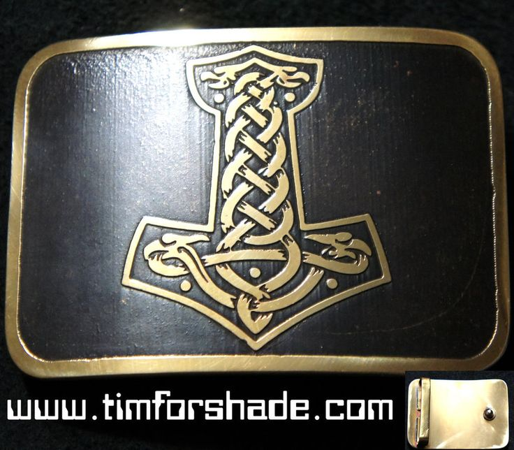 Thor Hammer belt buckle by TimforShade on DeviantArt