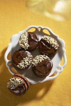 Čokoládovo - oříškové koláčky