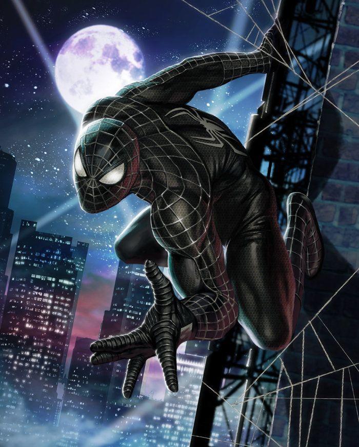 BLACK Spider-Man, In-Hyuk Lee on ArtStation at https://www.artstation.com/artwork/black-spider-man