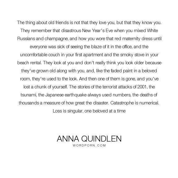 basta anna quindlen ideerna pa lasa bocker  anna quindlen the thing about old friends is not that they love you