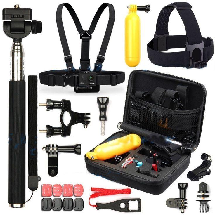 Go Pro Accessories kit selfie stick, tripod, Head and Chest Belt etc For Gopro Hero 4 3 2 1 and SJCAM SJ4000 SJ5000 SJ5000X Cam