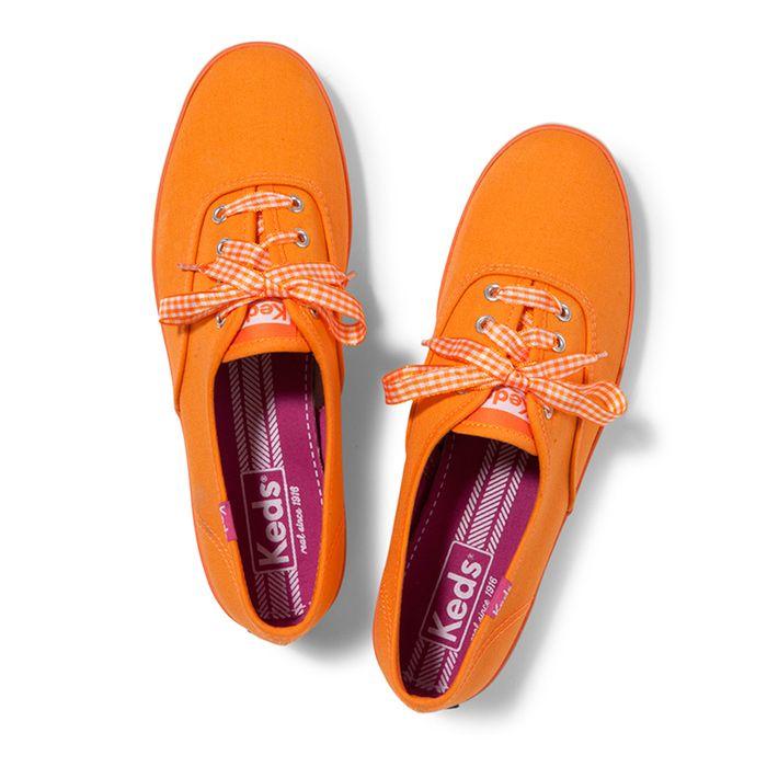 Champion Gingham Lace. Color Shown: Brite Orange