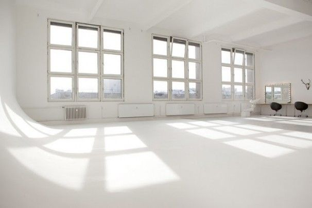 Studio with white infinity wall, you will be mine.