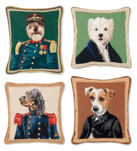 Terrier needlepoint pillows!