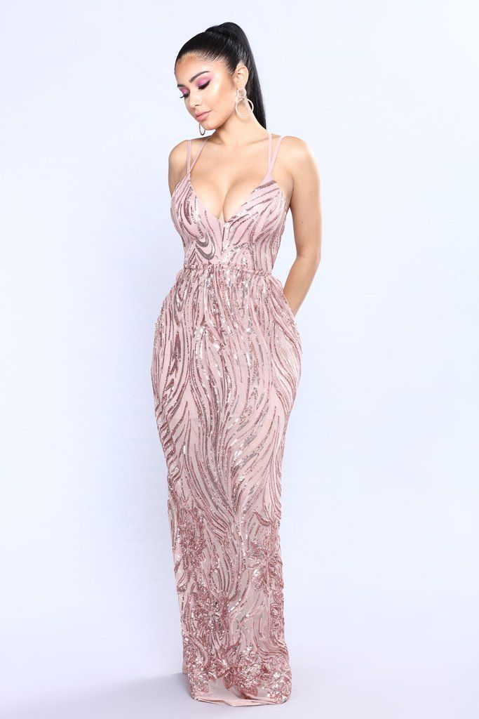 4f915049fce Cherished Sequin Dress - Rose Gold