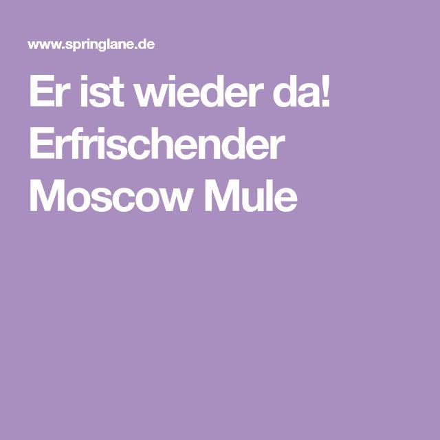 Er ist wieder da! Erfrischender Moscow Mule
