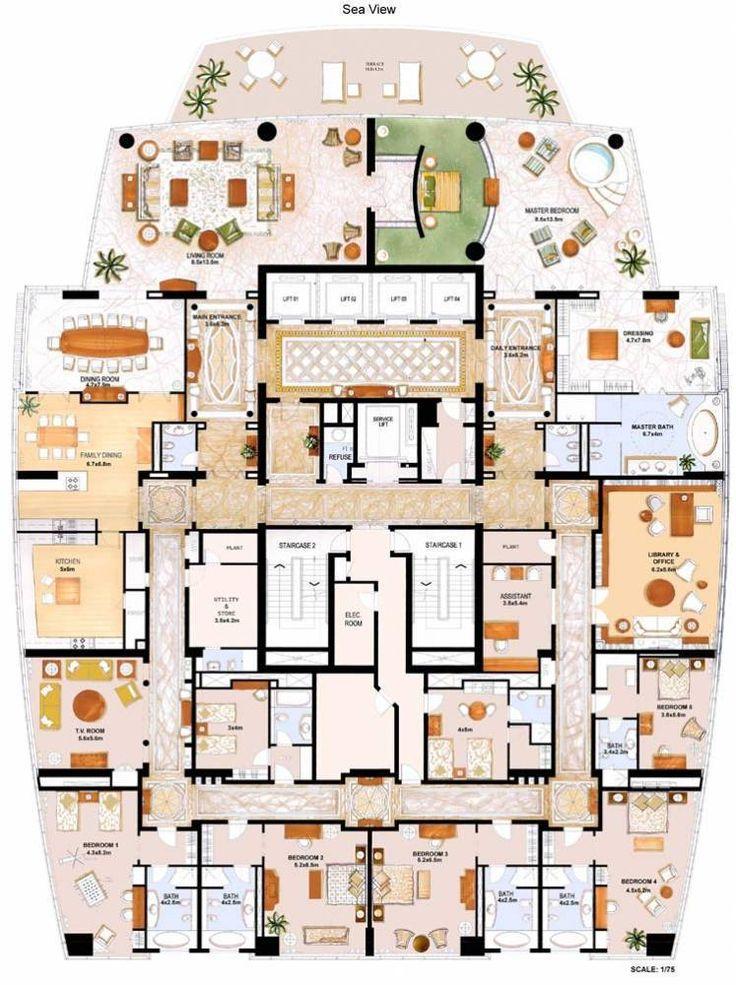 Le Reve | Penthouse Classic 1.300m² | Dubai Marina | Dubai