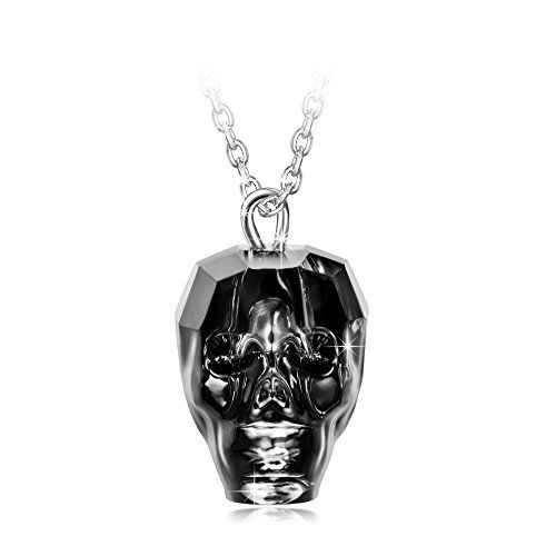 LadyColour King of Rebirth Skull Heads Pendant Necklace Made with Swarovski Crystals  LadyColour King of Rebirth Skull Heads Pendant Necklace Made with Swarovski Crystals  Expires Sep 22 2017