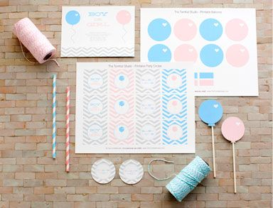 gender reveal free printable downloads baby shower