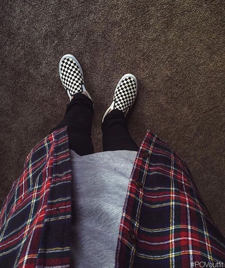 """#POVoutfit by @exodusfashion - #Vans #Checkerboard Slip Ons - #Hm Denim…"