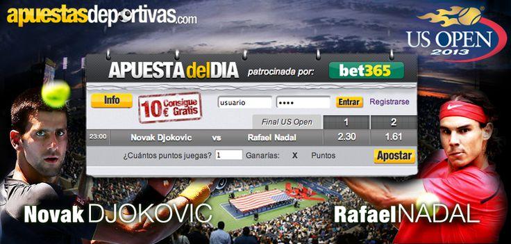 Hoy se disputa la final del US Open y en la Apuesta del Día os proponemos apostar en este encuentro final, ¿conseguirá Nadal vencer a Novak? ¡Haz tu apuesta! #usopen #tenis #apuestadeldia