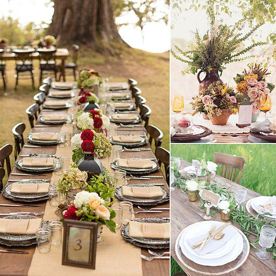 Fall Wedding Ideas Table Decorations: 17 Best Images About RUSTIC Wedding Tablescapes On