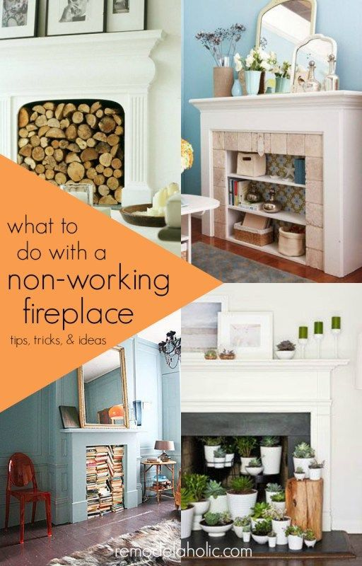 what to do with a non working fireplace fireplace decoratingideas rh pinterest com Non-Working Fireplace Screens A Non Working Fireplace Decorating