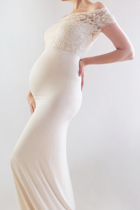 08e3d4ce47 AVIVA Fitted Maternity Dress Lace Maternity Dress for Baby