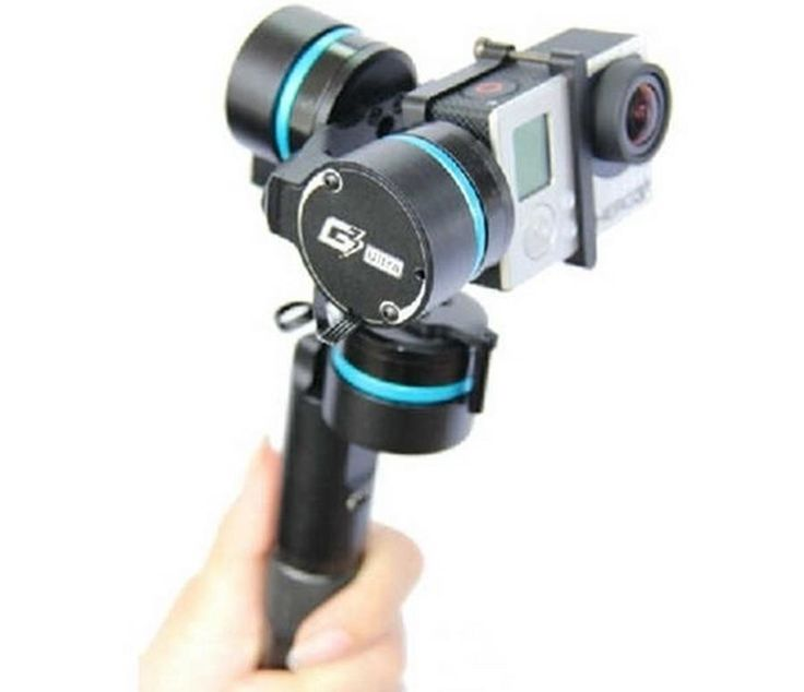 Amazing 3 Axis HandHeld Gimbal for GoPro , - , This small 3 Axi... , #3-axis #Gimbal #shoot