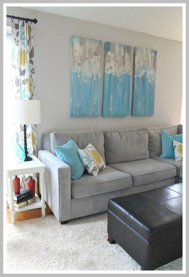 58 Reference Of Grey Sofa Yellow Curtains In 2020 Living Room Turquoise Living Room Grey Grey Couch Living Room