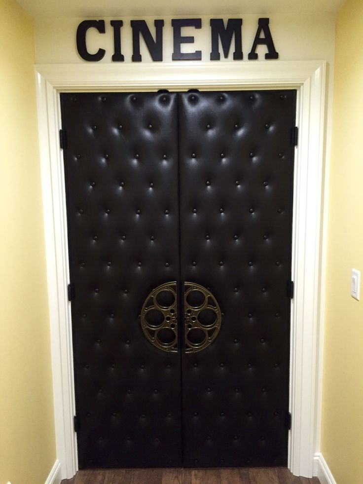 The custom doors were so important to make this movie theatre's look and feel like it's the real deal.