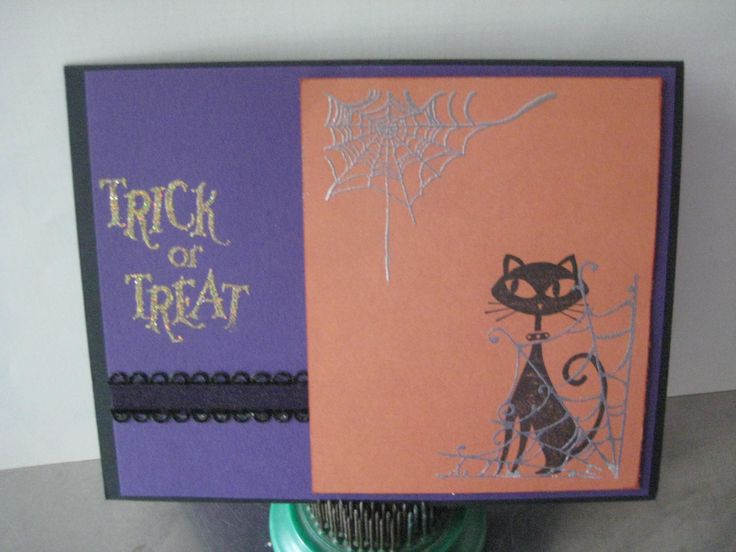 "Stampin' Up's ""Cool Cat"" set meets Halloween!"