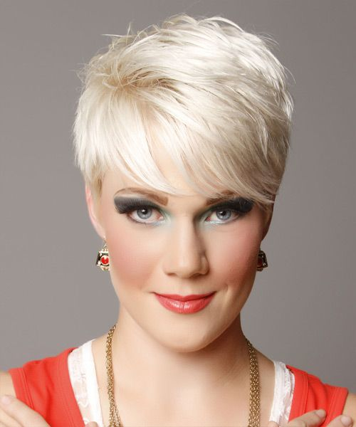 Short Hairstyle - Straight Casual - Light Blonde | TheHairStyler.com