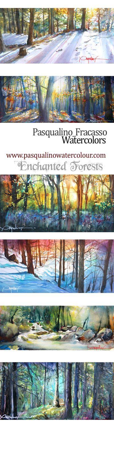 forest#landscape#watercolor#art#paintings www.pasqualinowatercolour.com