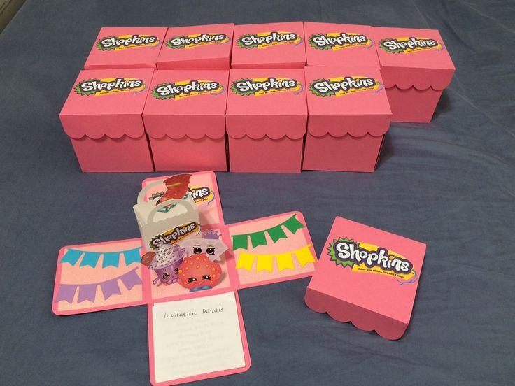 3D Shopkins Invitations/Explosion Box Shopkins Invitations/Exploding Box Shopkins Invitations/Shopkin Invitations/Shopkins Invitations