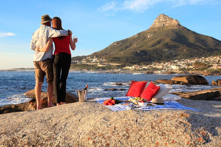 You are looking at Lion's Head from Camp's Bay, Cape Town.   Be our guest http://oceanview-house.com/  #beach #paradise #holiday #stay