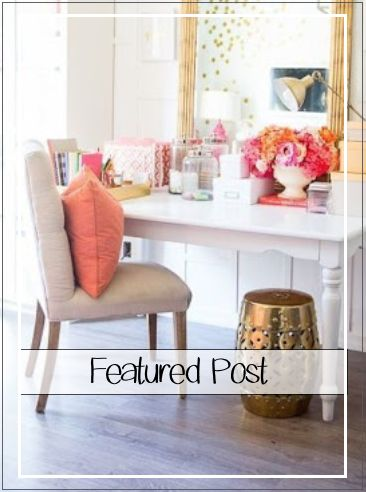 South Shore Decorating Blog: ROOM REVEAL: Pink and Gold Feminine Bedroom (My Guest Room) With Sources