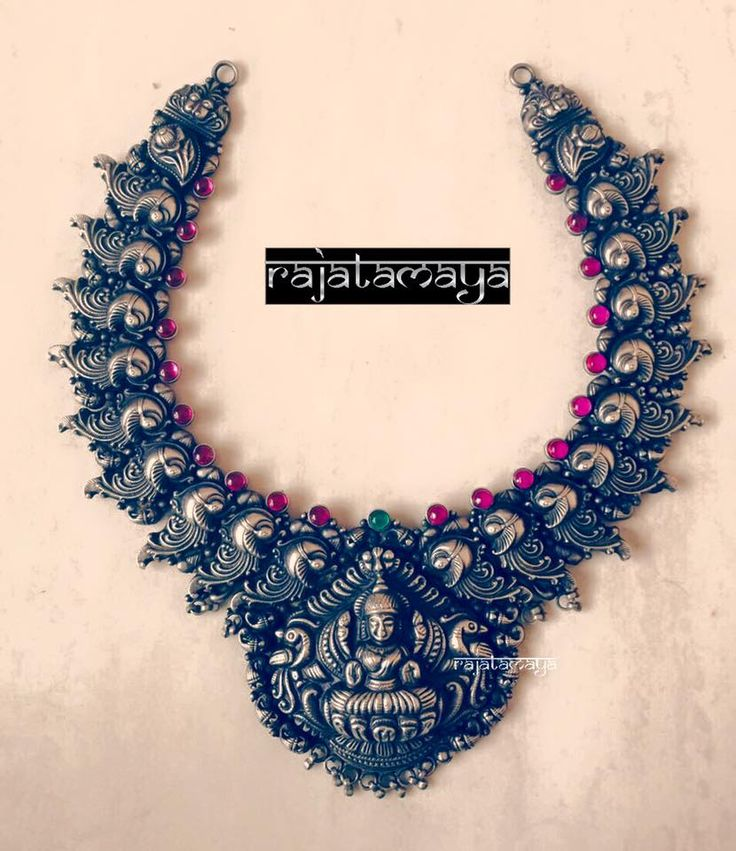 This necklace with Goddess of Wealth at its centre is magnificent. www.shopzters.com
