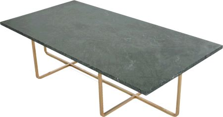 Ninety Table Grön marmor 60x120 cm, H:30/40 cm mässing OX