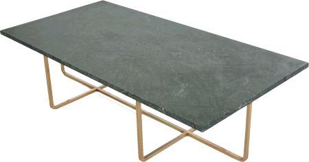 Ninety Table Grön marmor 60x120 cm, H:30/40 cm mässing OX
