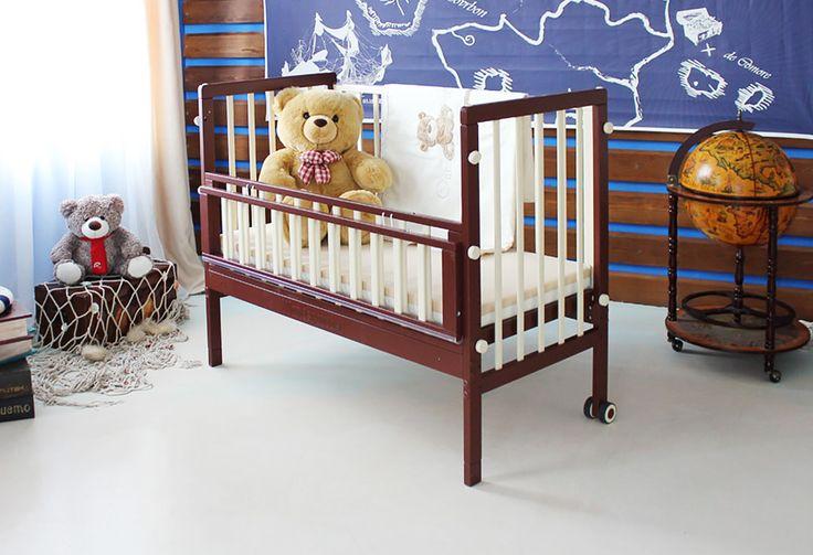 Бесшумные немецкие детские кроватки для новорожденных Wundermobel: белые, голубые, розовые, синие, зеленые, оранжевые, коричневые, кроватка с аппликацией