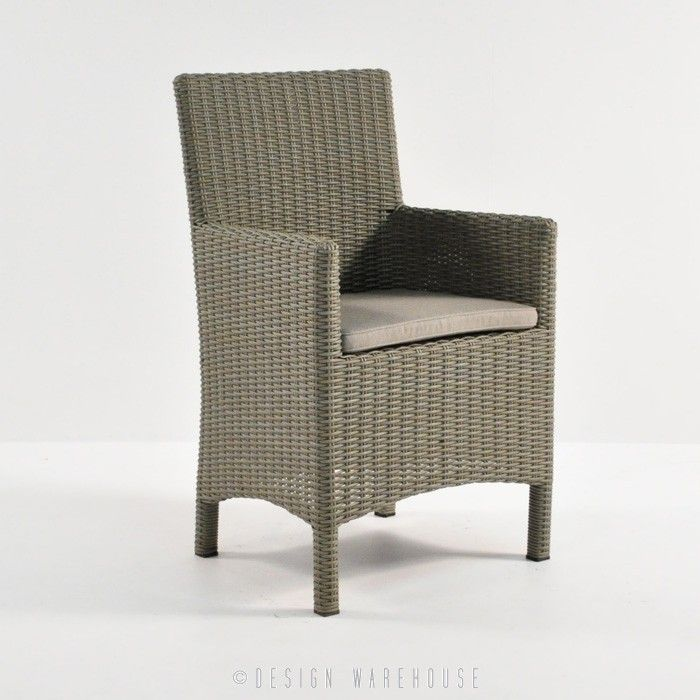 Petra Wicker Dining Arm Chair (Kubu) | Design Warehouse NZ