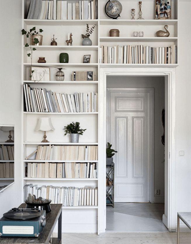 4 stylish doorway bookshelves - via cocolapinedesign.com                                                                                                                                                     More