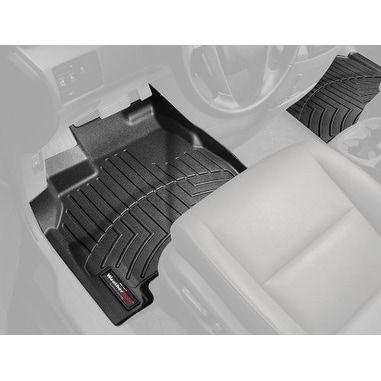 WeatherTech 2012-2013+ Ford F-250/F-350/F-450/F-550 Black Front FloorLin