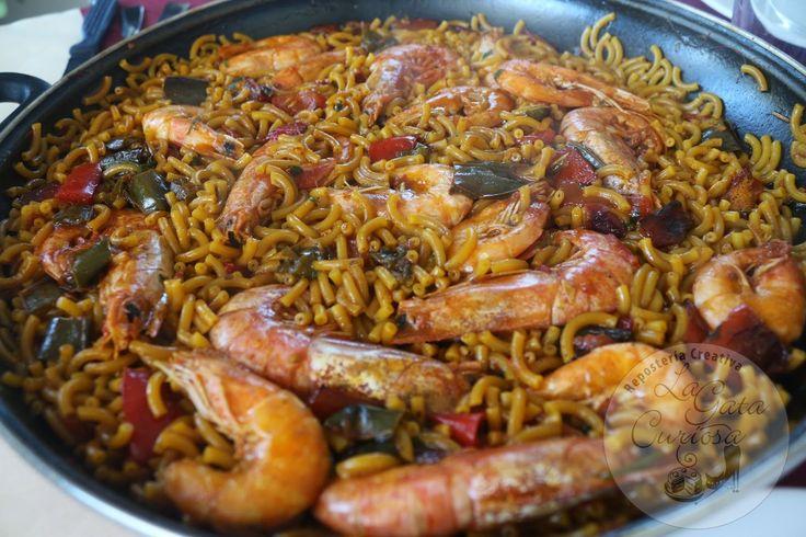 FIDEUA FACIL CON LANGOSTINOS Y GAMBAS | Cocinar en casa es facilisimo.com