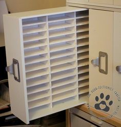 DIY Instructions for Ink pad storage made using recollections 3 drawer cube. Holds most ink pad sizes