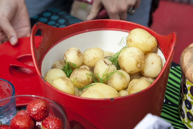 Fresh new potatoes from Finland