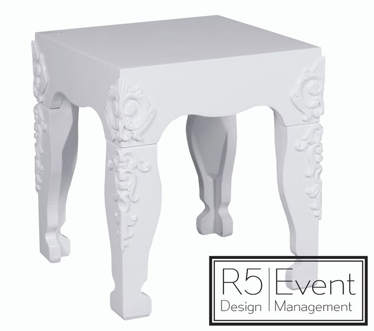 Savoy End Table- available for rent from R5 Event Design!