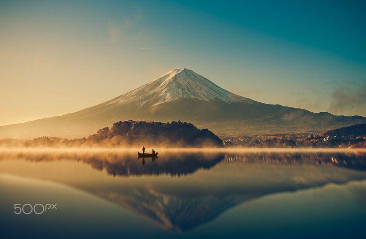 Mount fuji at Lake kawaguchiko,Sunrise by Pongnathee Kluaythong on 500px