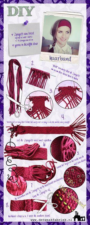 DIY haarband - maak het zelf met zpagetti