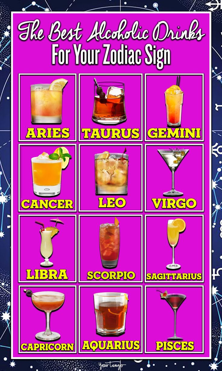 So, if you've always wanted to know which alcohol you are most like, according to your horoscope's star sign, keep reading. And then try some of these super yummy mixed drinks next time you're with friends. Cheers!