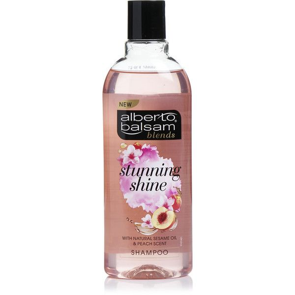 Alberto Balsam Blends Stunning Shine Shampoo 300ml ($1.55) ❤ liked on Polyvore featuring beauty products, haircare and hair shampoo