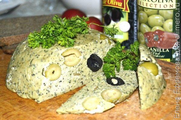 Оливковый домашний сыр
