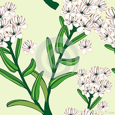 Beautiful tropical seamless pattern of Flower vector pattern design