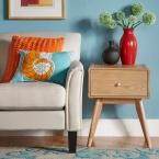 Holbrook 1-Drawer Natural Nightstand