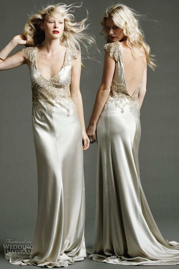 Best 25 johanna johnson wedding gowns ideas on pinterest for Ivory silk wedding dresses