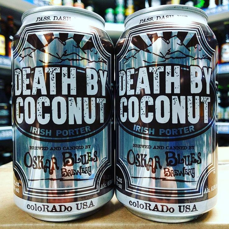Death by Coconut - 6.5% Coconut Porter from @oskarblues back in stock